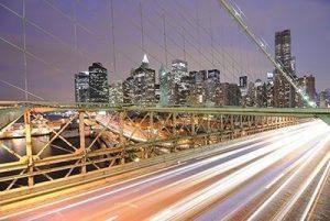 Cars on Brooklyn Bridge